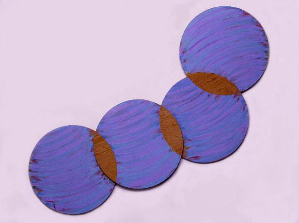 "Blue Violet,  Circle Series, 1988  Acrylic Paint on Plywood  72""x20""x1"""