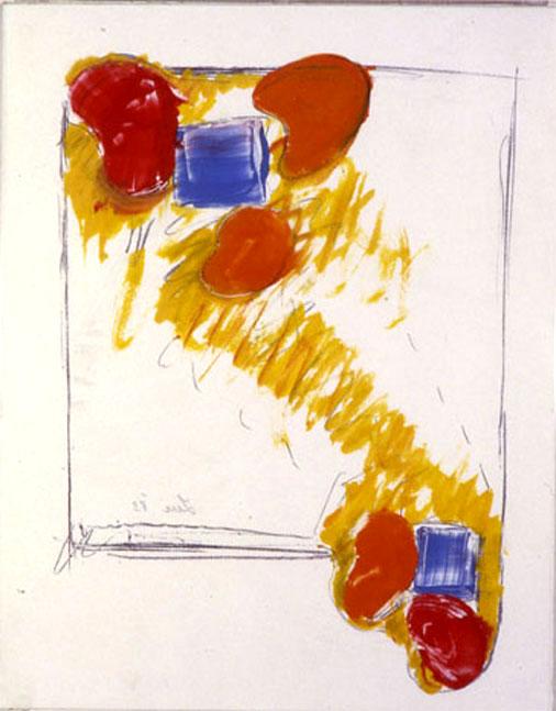 "From Wood2, 1984  Monoprint  11""x14"""