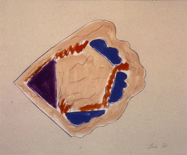 "From Wood3, 1984  Monoprint  11""x14"""