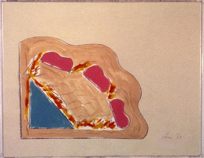 "From Wood6 , 1984  Monoprint  11""x14"""