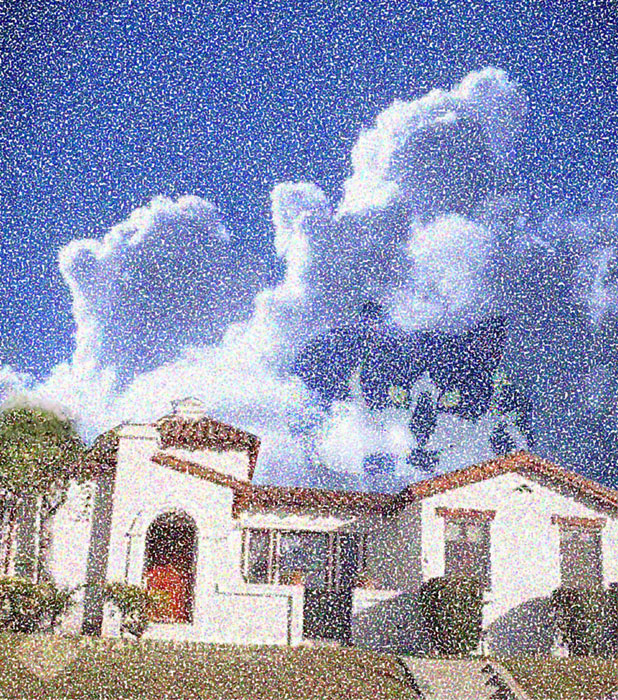 Chipper in Clouds over Pandora, 2006  Digital Painting