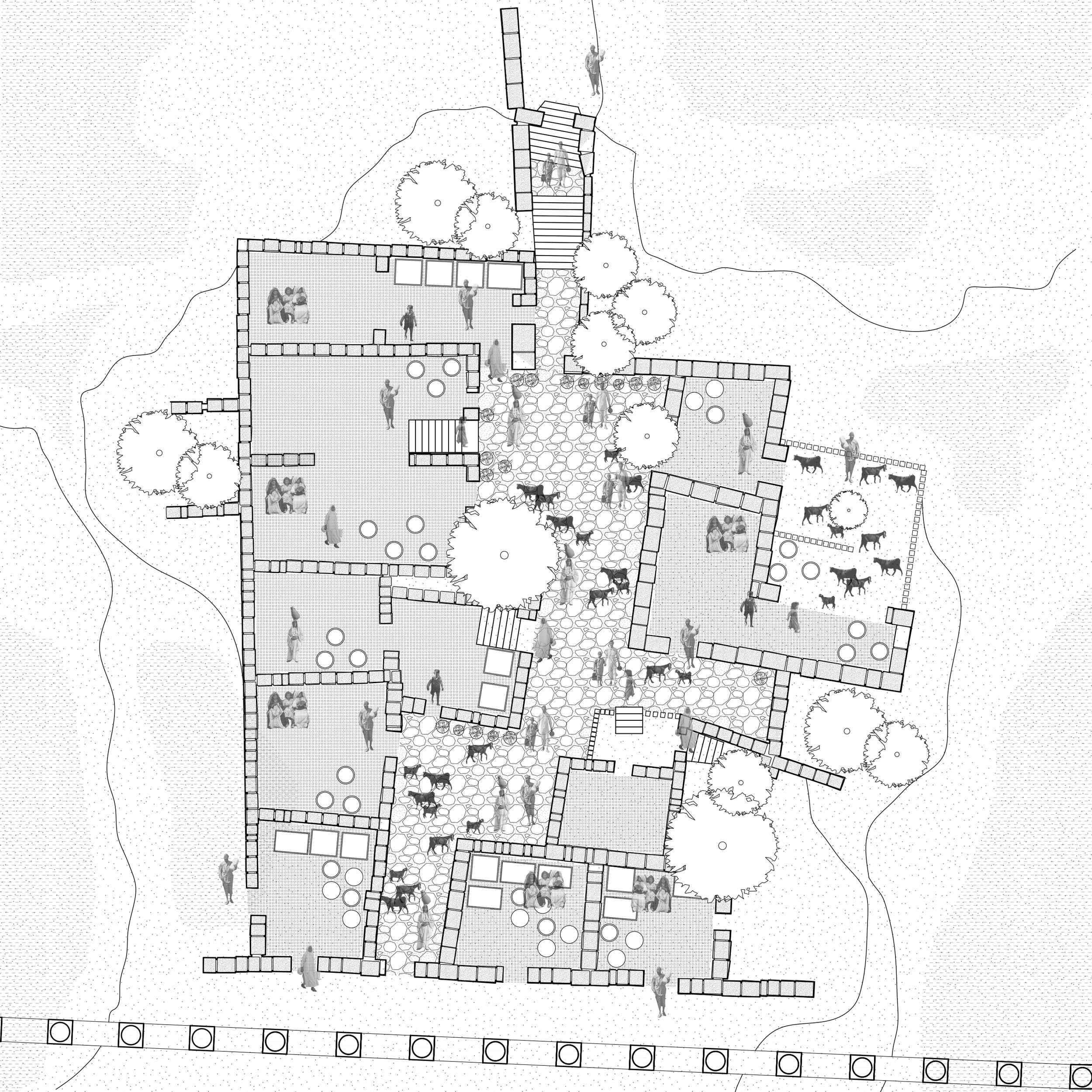 1950s- 1990s Amman Urban Settlement Dar (Courtyard House)