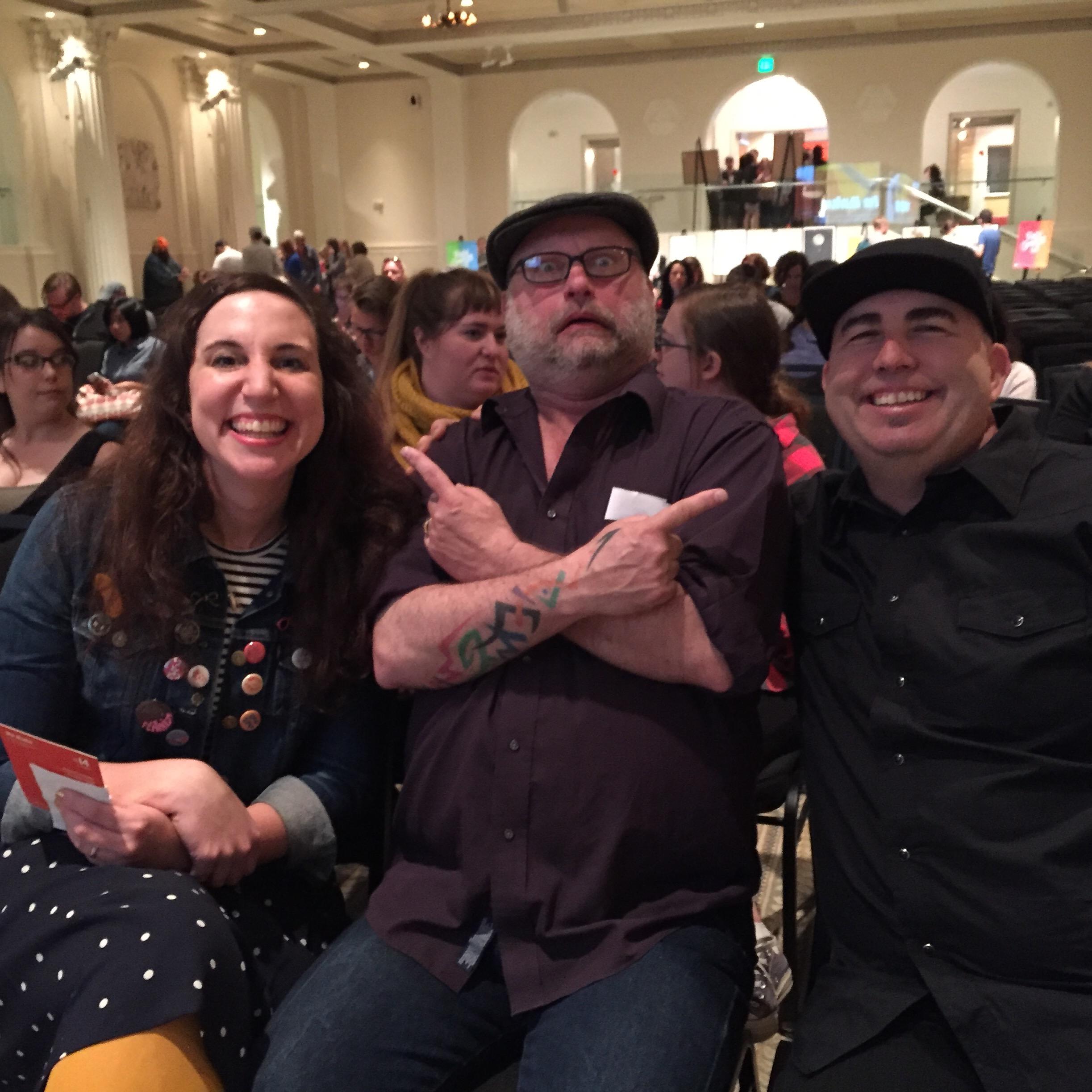Kate Bingaman Burt, Art Chantry, and Josh