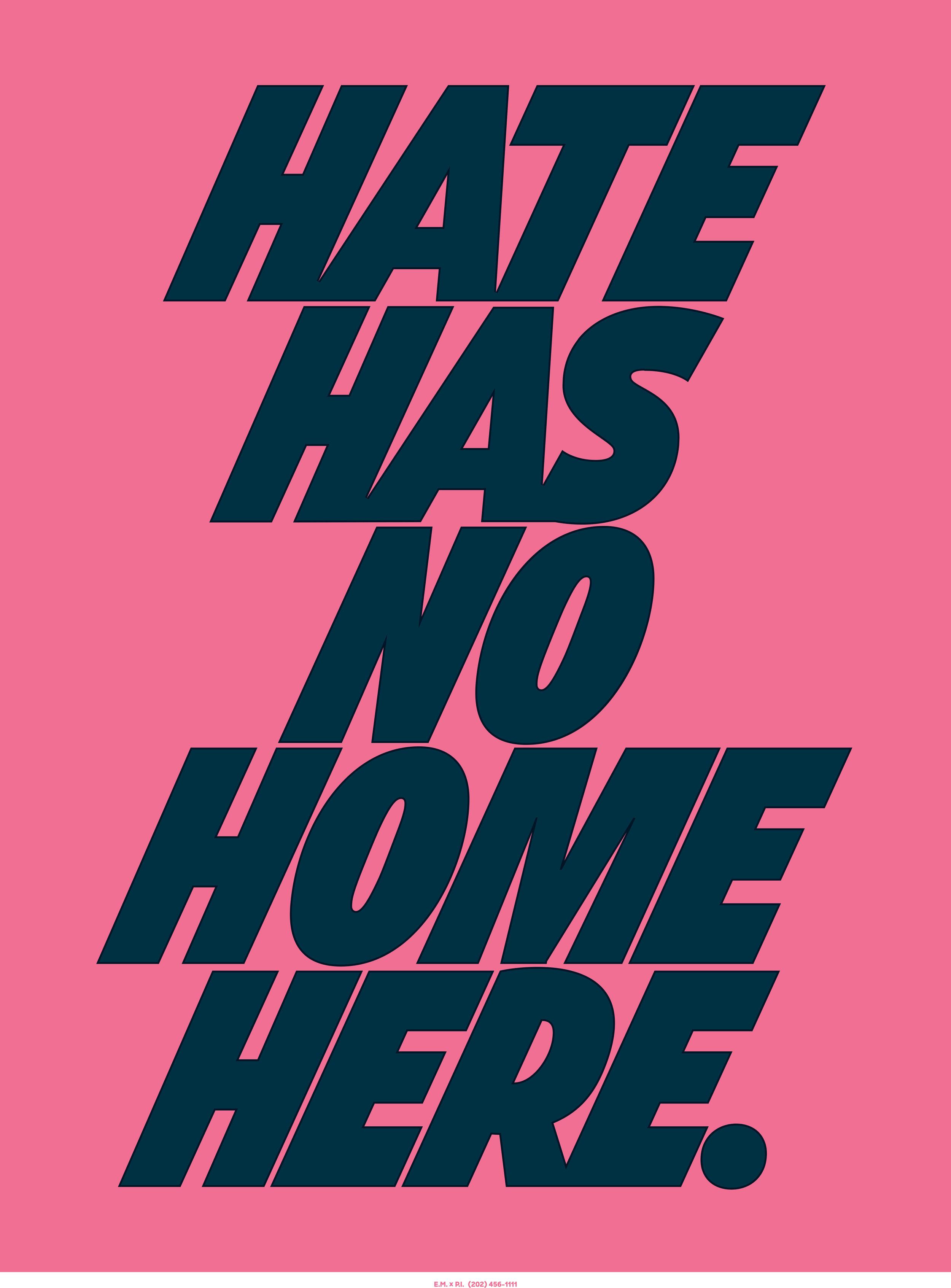 Marinovich Hate Has No Home Here Artwork