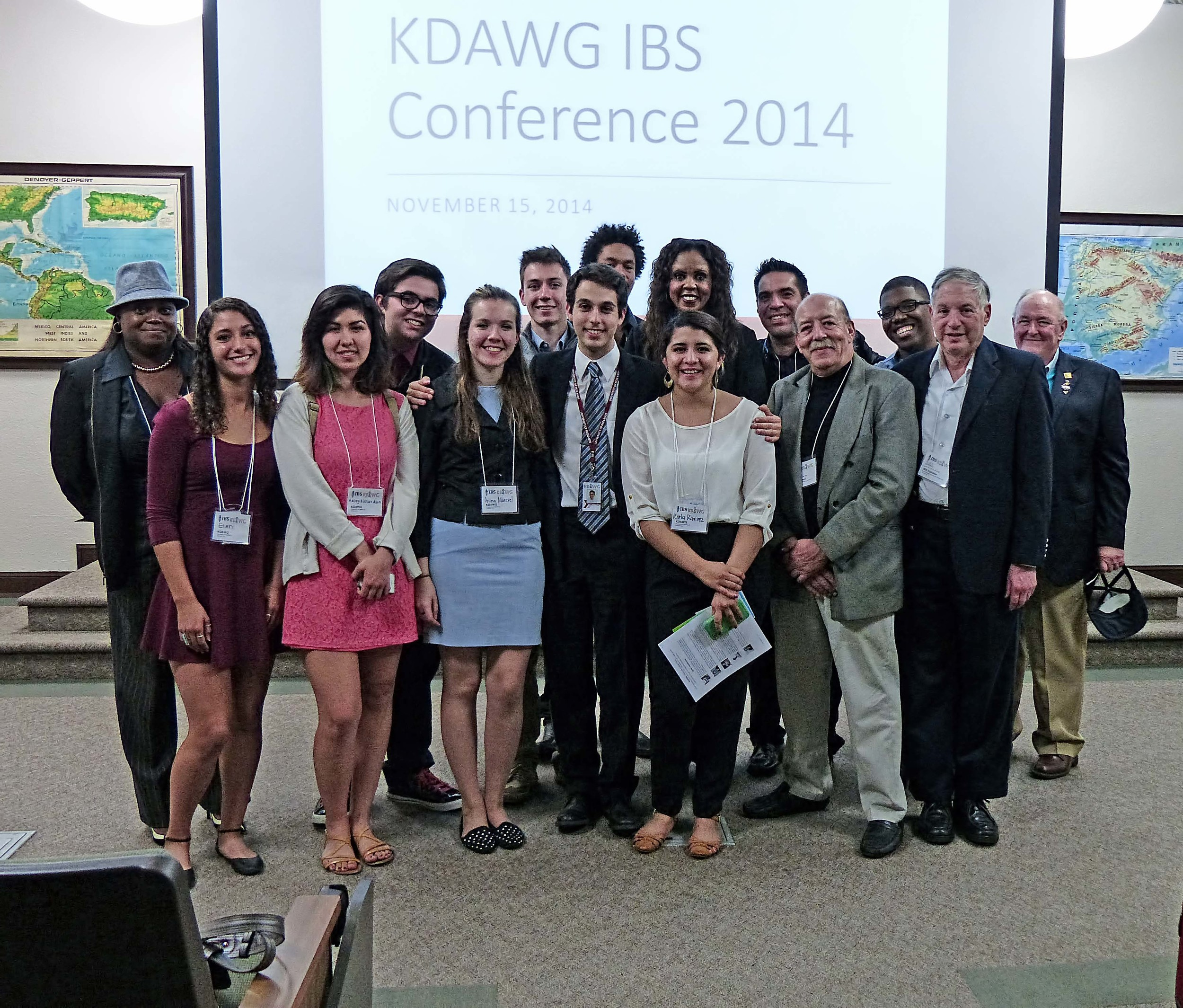 Staff alongside a few speakers from the Inaugural KDAWG/IBS Radio & Music Industry Conference