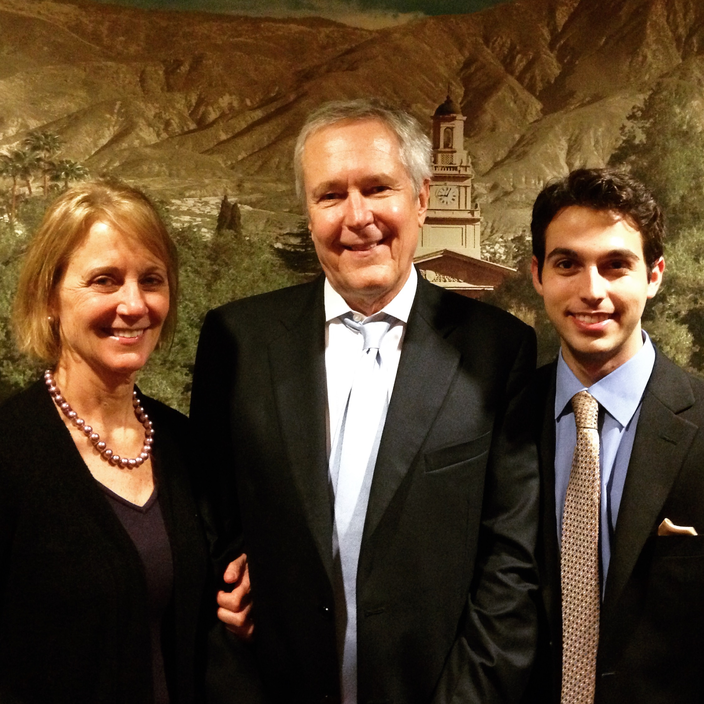 Sanford with Journalists James and Deborah Fallows