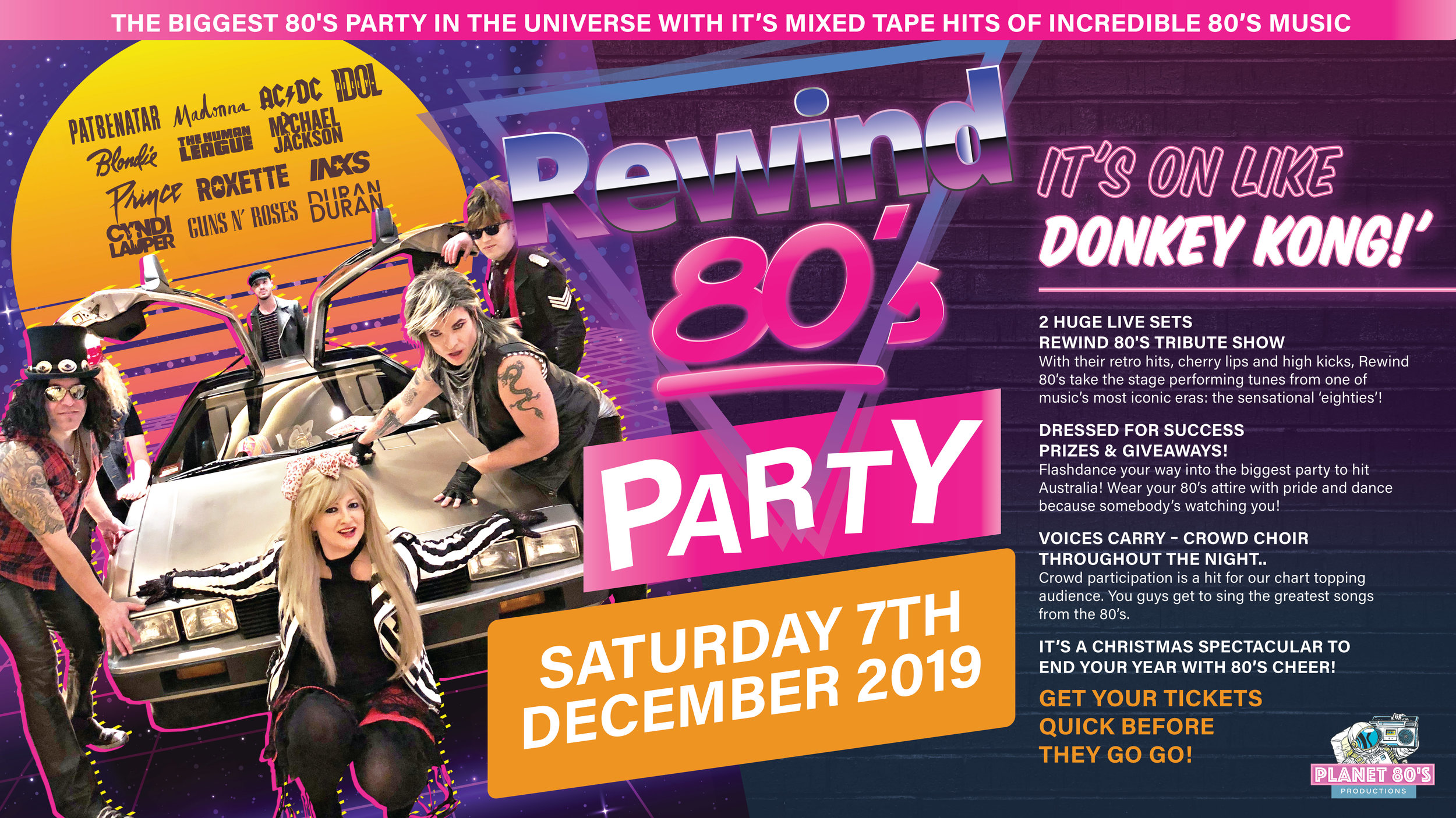Christmas Events Dc 2019.Anita S Theatre Thirroul Rewind 80 S Party A Xmas Spectacular