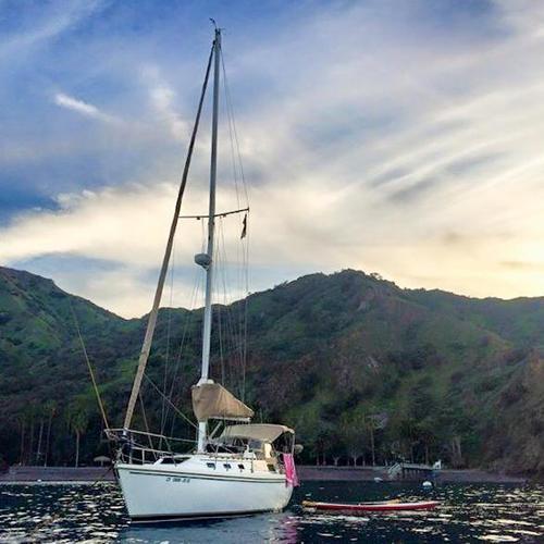 My lovely lady, Haunani at Catalina Island