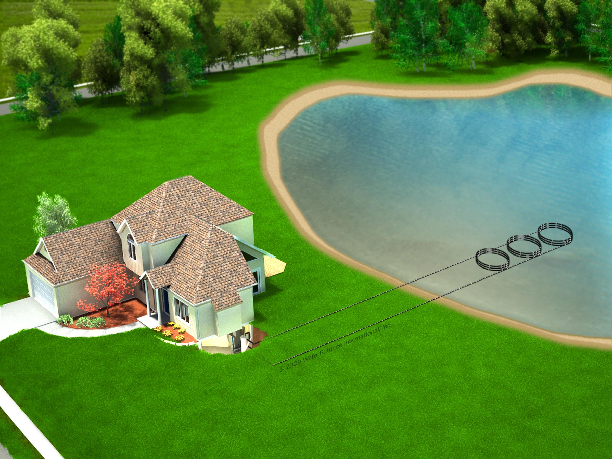 Geothermal Pond Loops