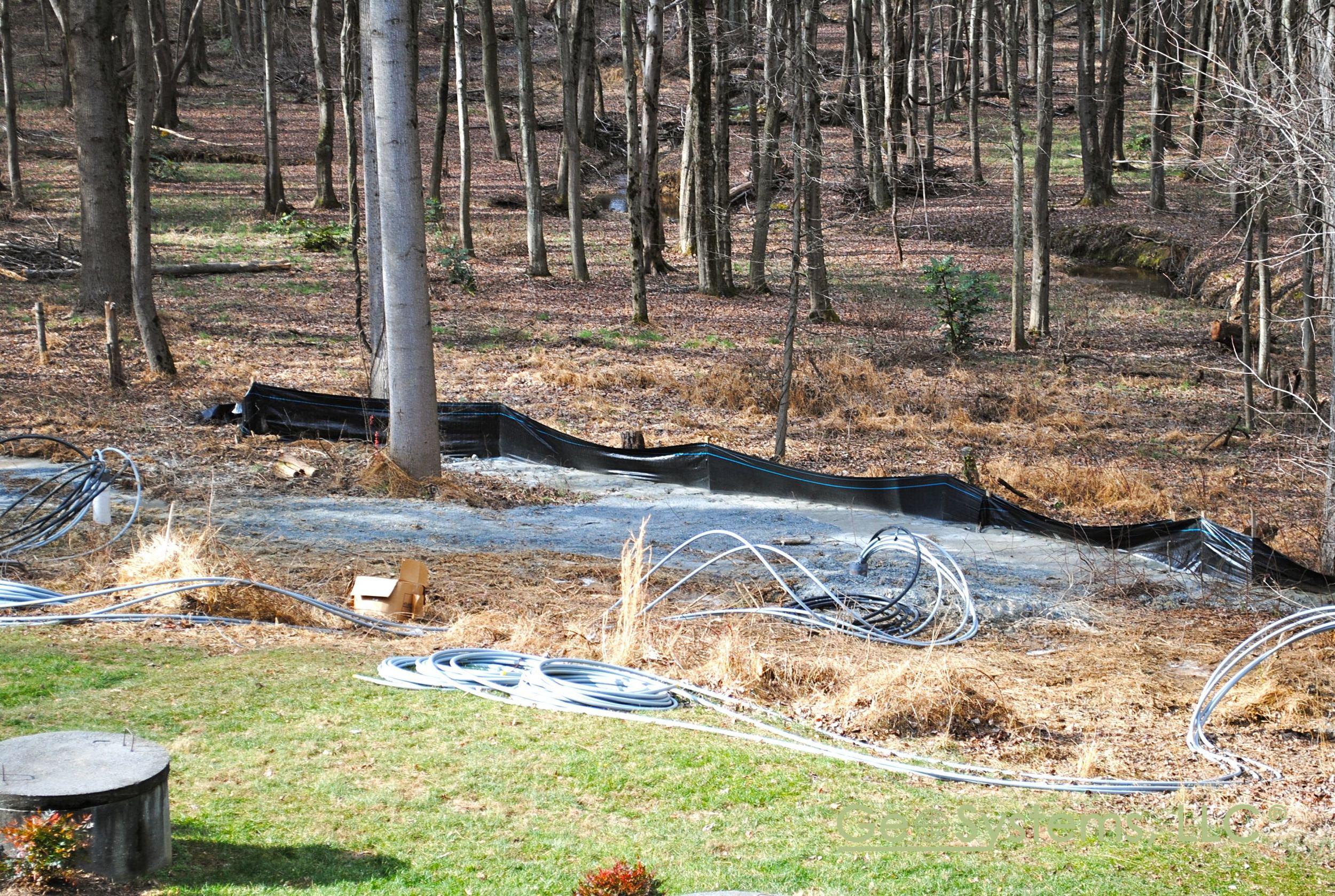 Geothermal Loops are installed