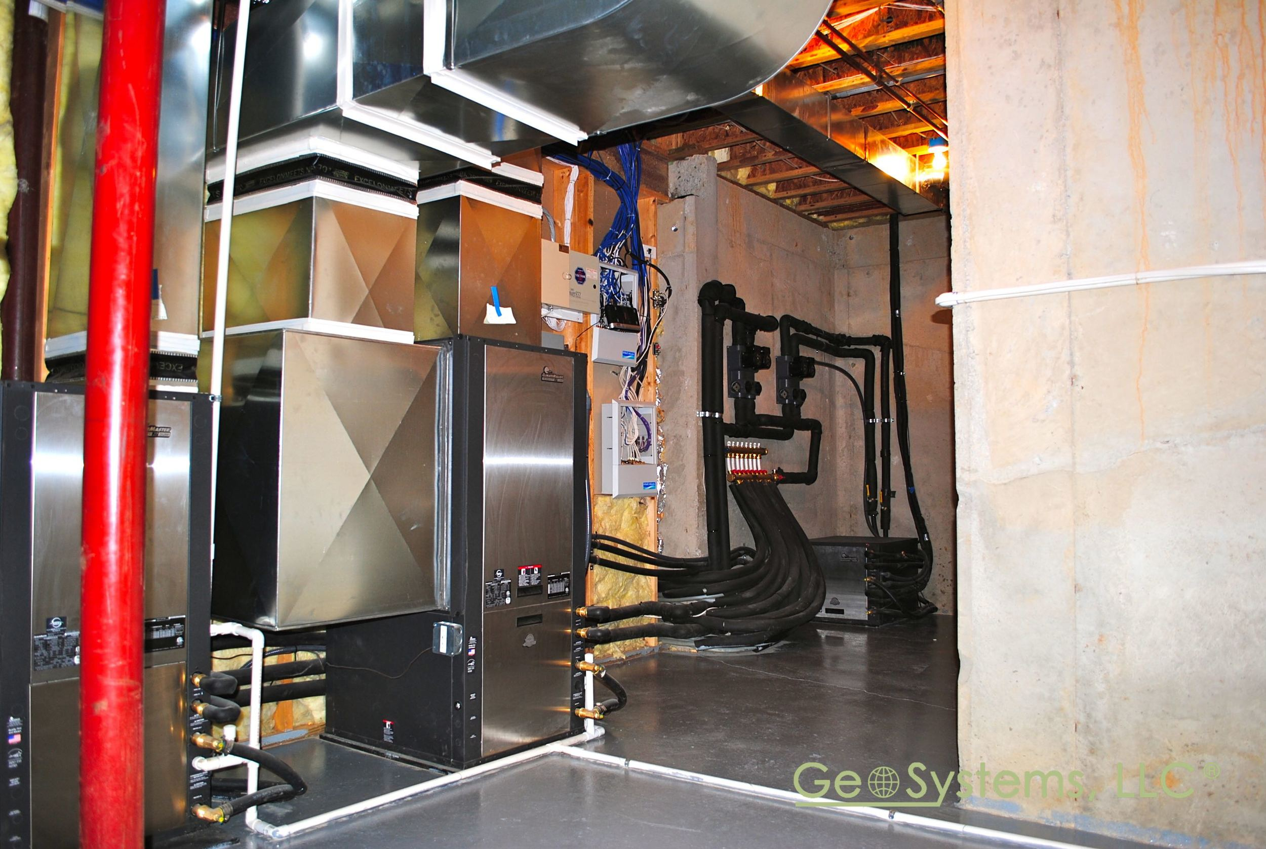A Finished Geothermal Mechanical Room