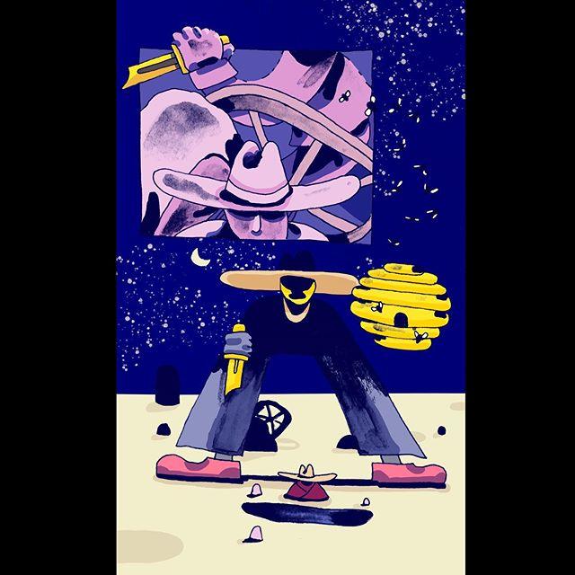 🌘⚔️ . . . . . #tdkpeepshow #design #illustration #illustratorsoninstagram #illustrator #designer #illustrationoftheday #designfeed #illustrationage #picame #itsnicethat #ballpitmag #papiermagazine #designspiration #illustree #designmilk #gfxmob #designpiration #graphicgang #designarf #pajamagallery #illustrationartists #onbooooooom #digitalillustration