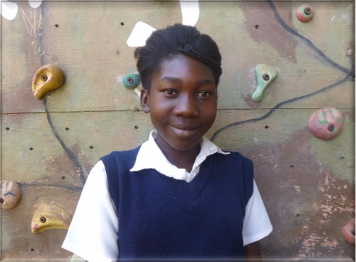 Giorgina Mukumba - Giorgina would like to become an author when she finishes school!.