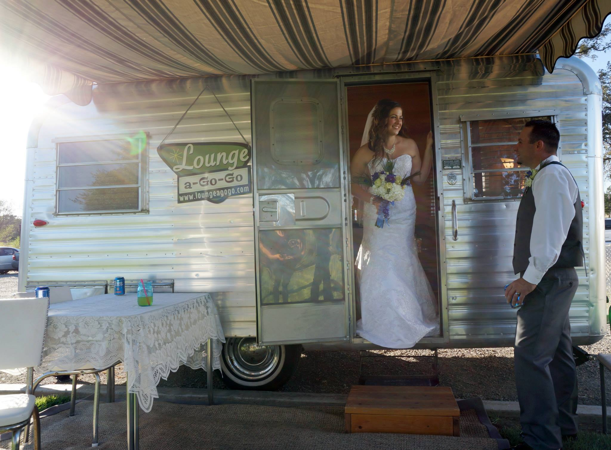 """Vintage trailer """"  Lounge A-Go-Go  , photo by  M Heart Photography"""