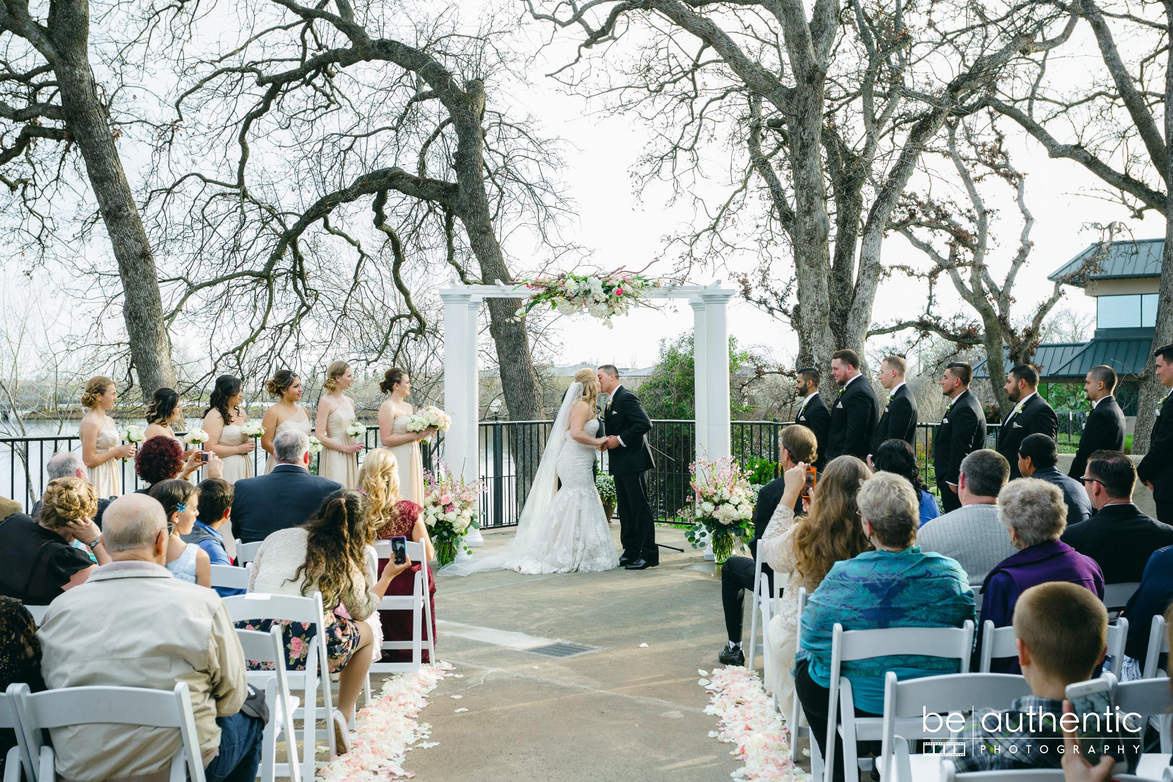 Jaime and Cassie Lakeside Pavilion Ceremony