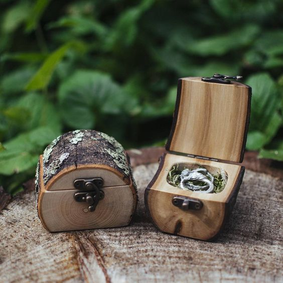 Wood Ring Box hand-crafted by  Jacob MccKay Studios
