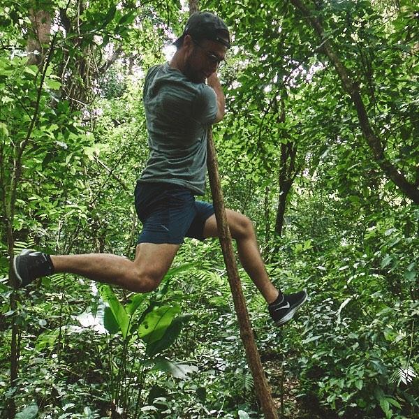Playing Tarzan in Guatemala.