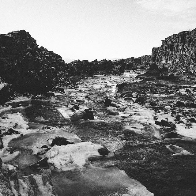 Pleasantly strange to feel a warm river surrounded by snow. The geothermal Icelandic waters keep this guy running strong year round.