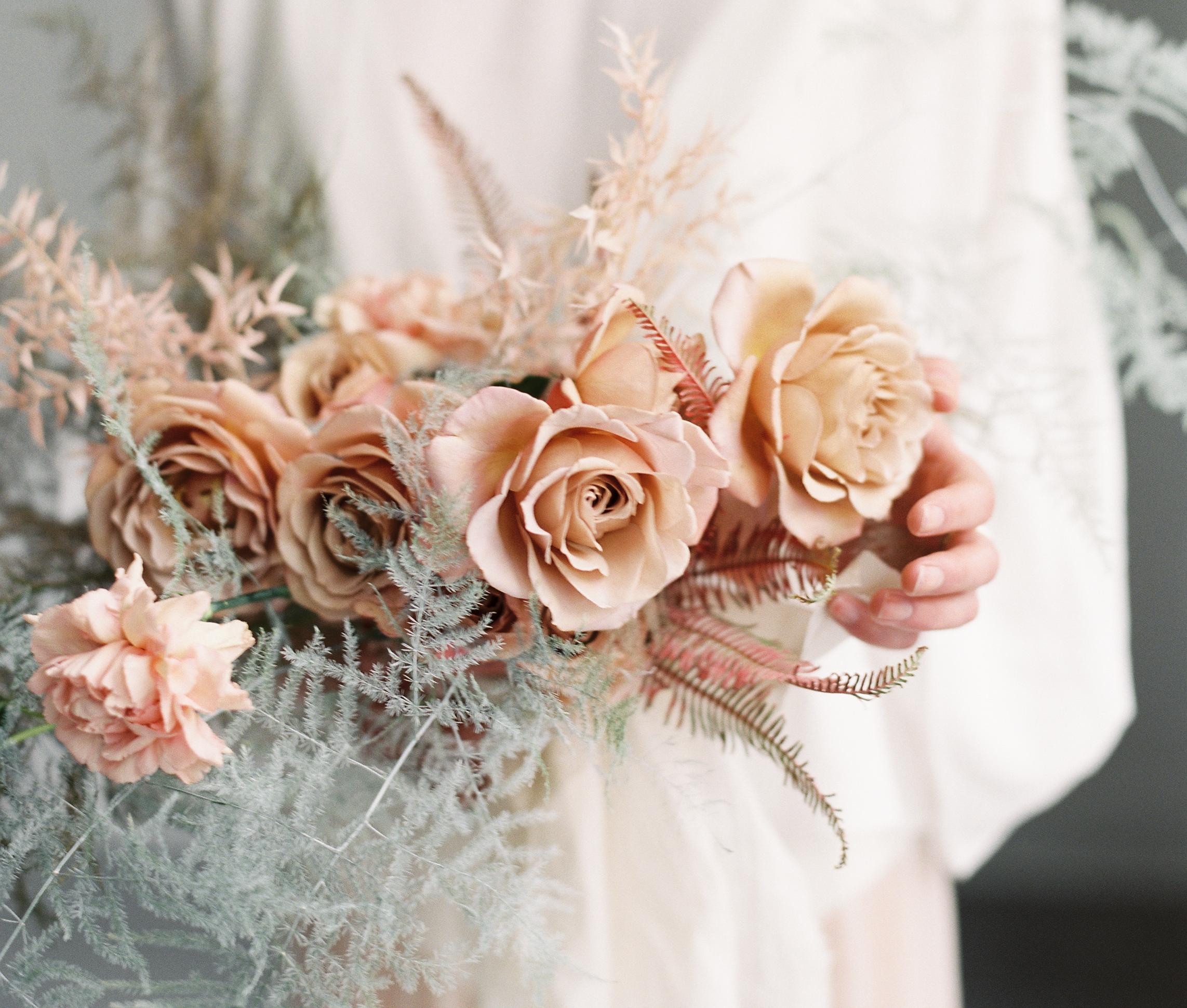 garden roses winter spring summer fall wedding bouquet blush koko loco rose delicate hutton house