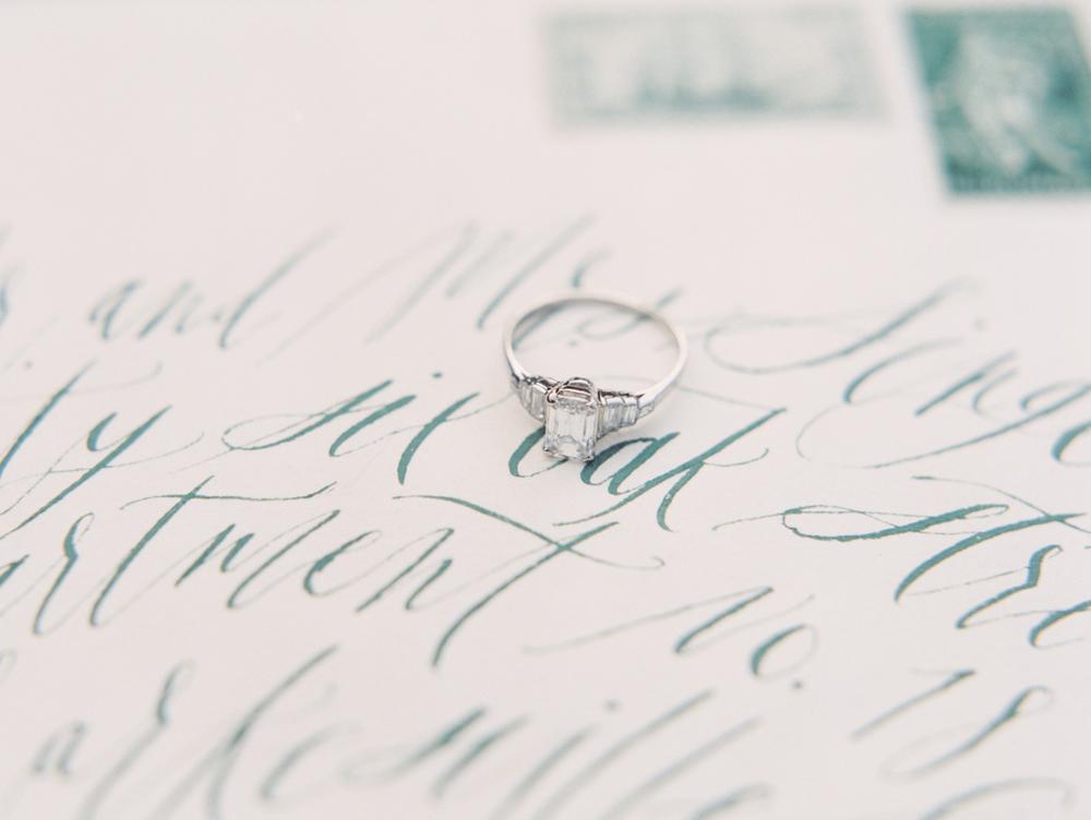 calligraphy envelope addressing Atlanta