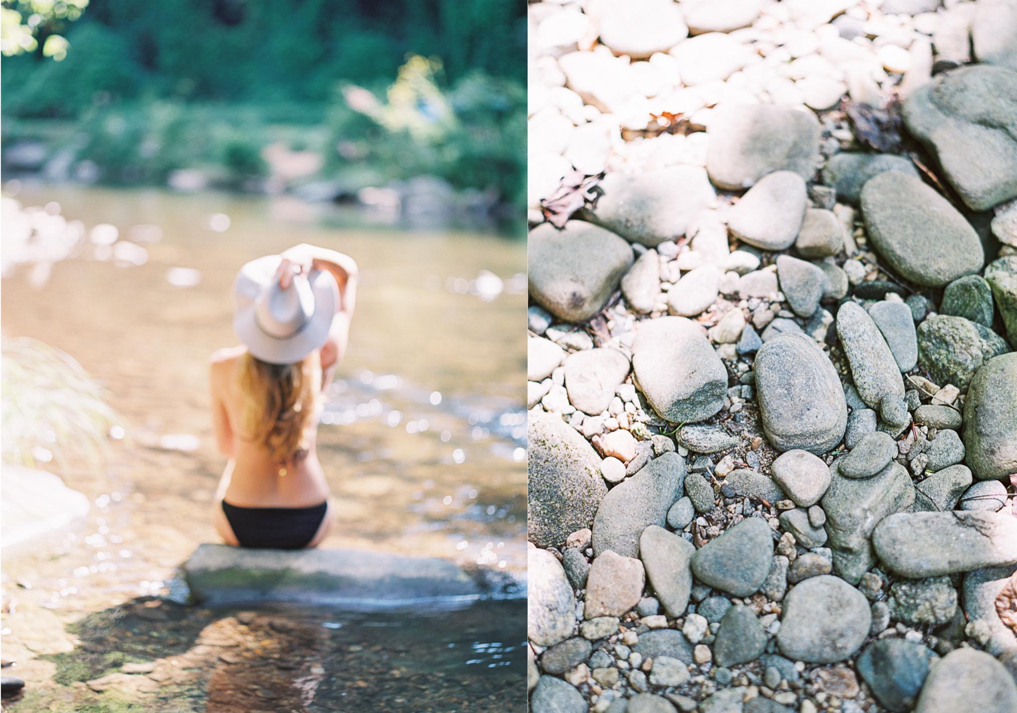 river rocks film wedding photographer Sarah Ingram
