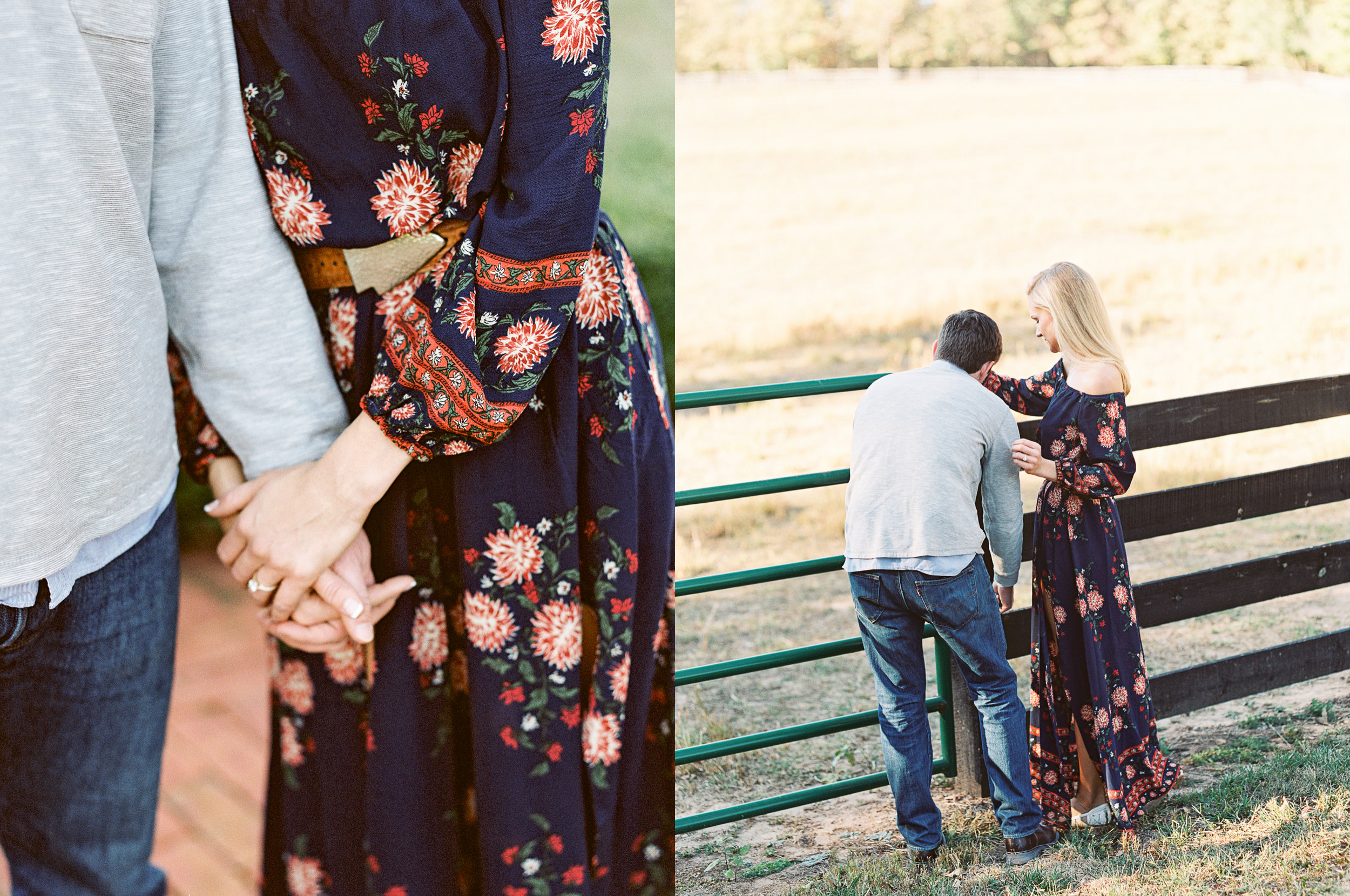 engagement session horses atlanta ga film photographer