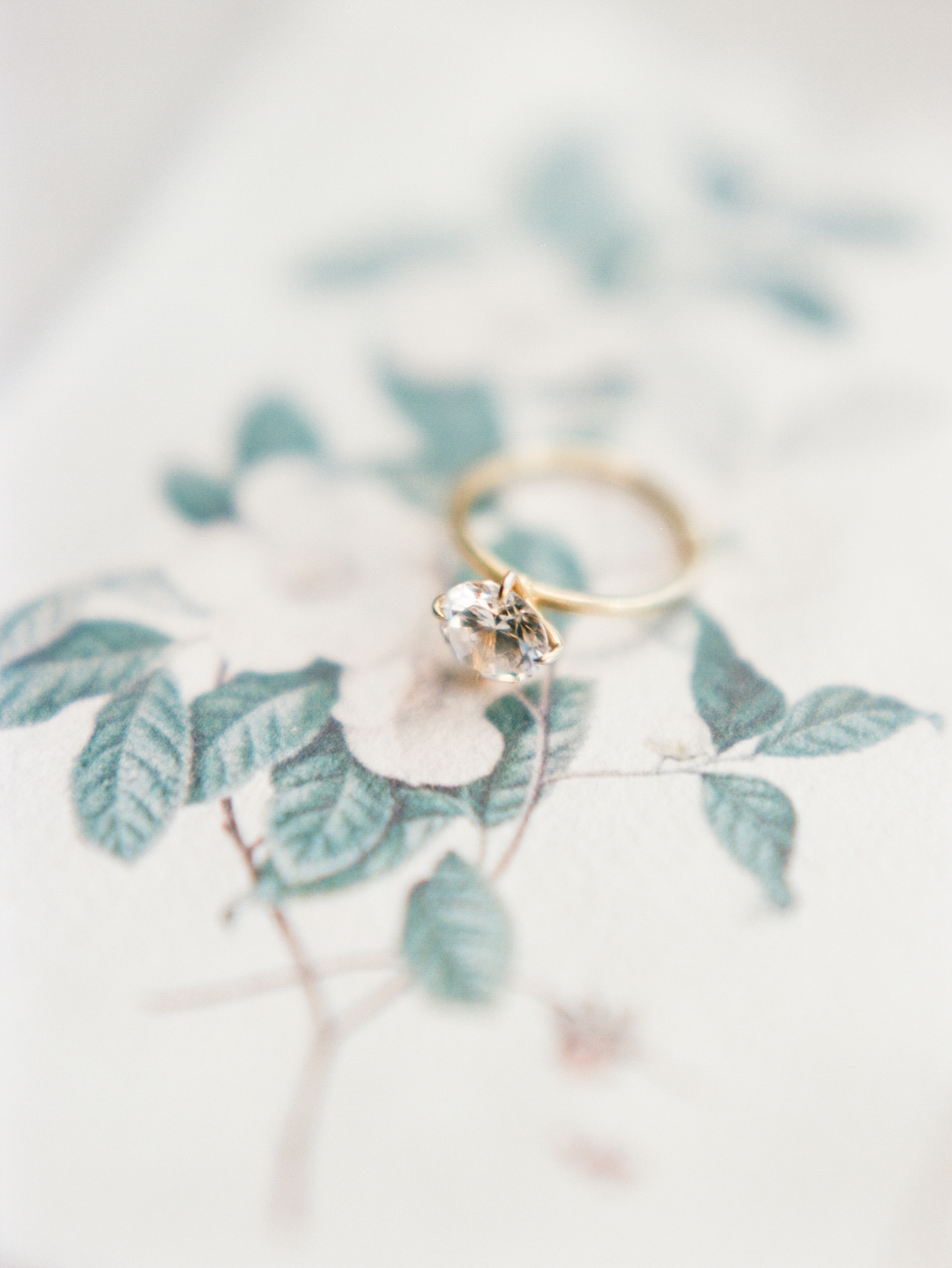 Savannah wedding solitaire ring gold film