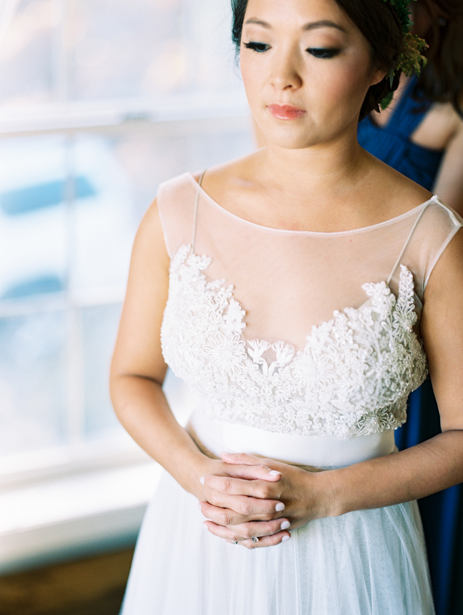 soft lace wedding gown beaded tulle