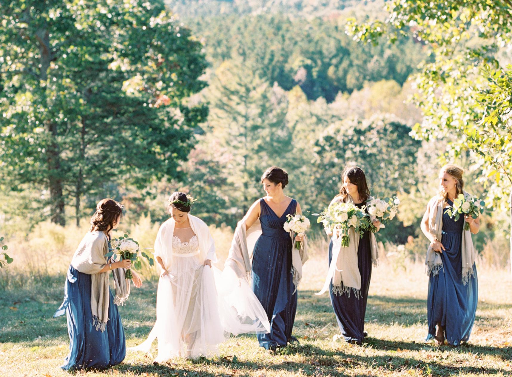 fall wedding Georgia mountains film photographer