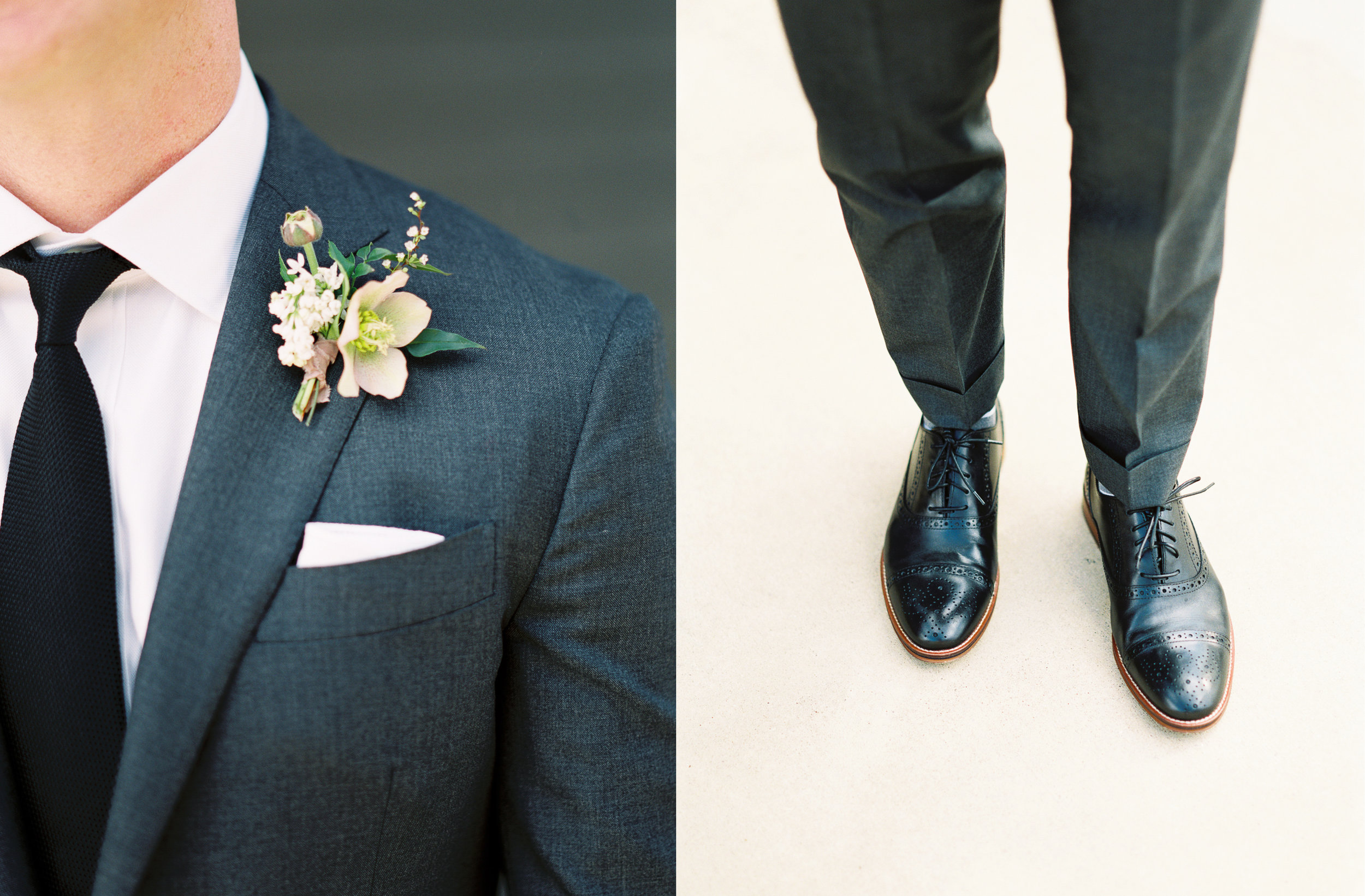 Wedding tux suit mens oxfords