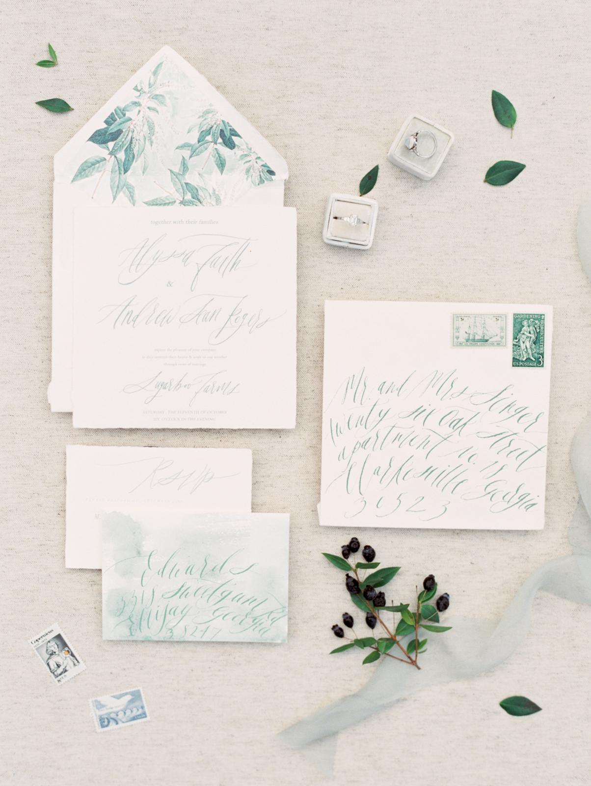 Wedding calligraphy Sarah Ingram