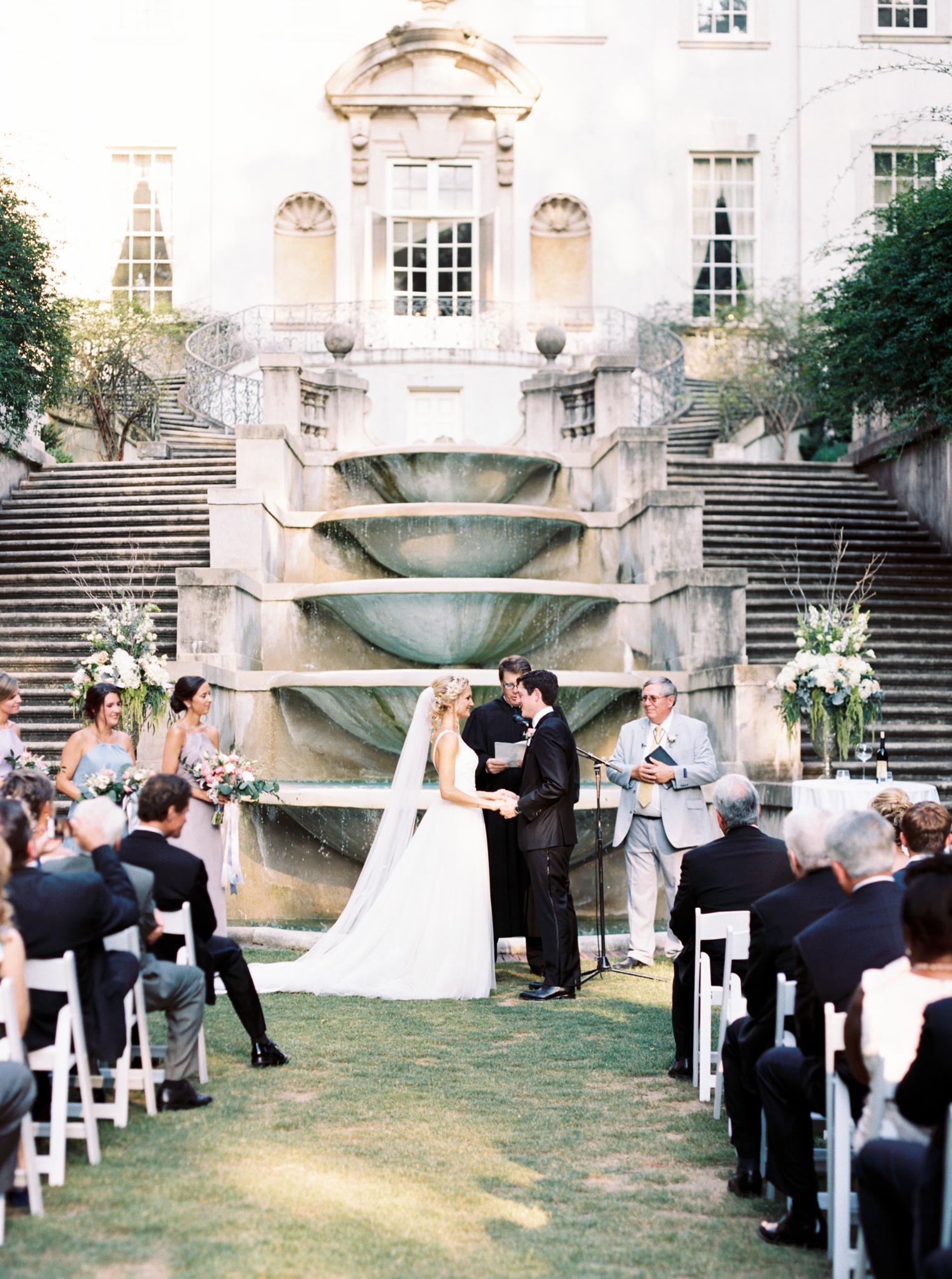 Atlanta wedding photographer Swan House luxury