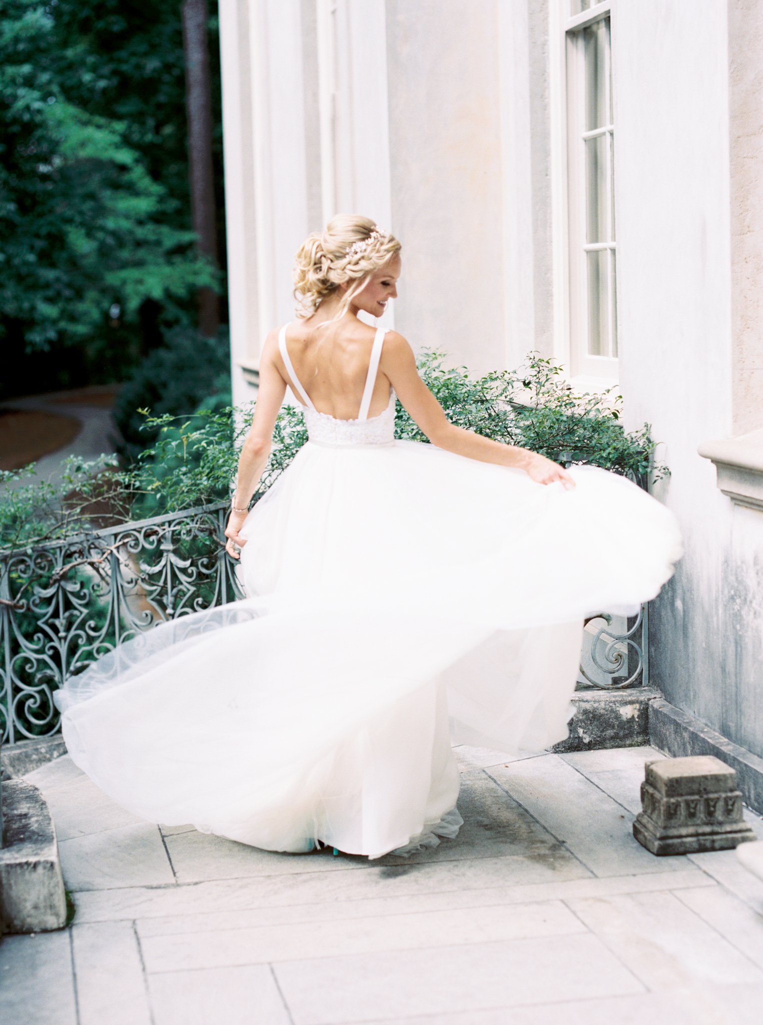 Atlanta wedding photographer Swan House film