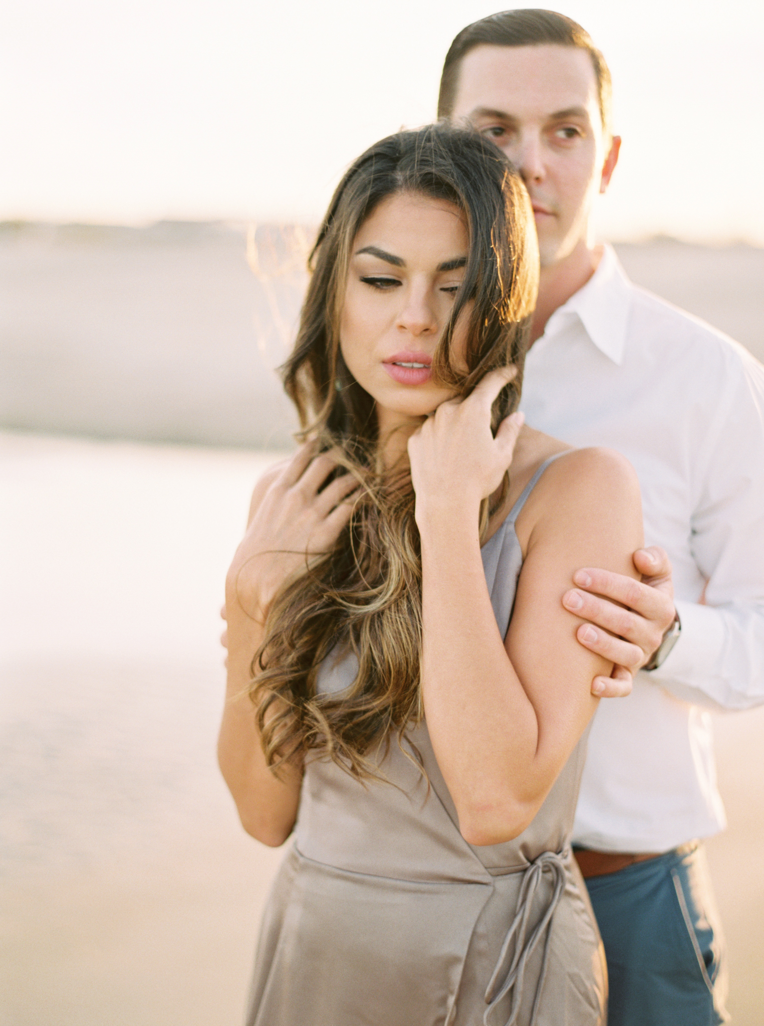 Beach engagement session gulf coast photographer