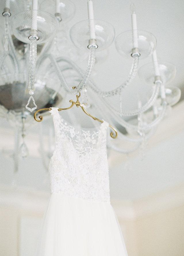 Illusion neckline wedding dress Joan Pillow