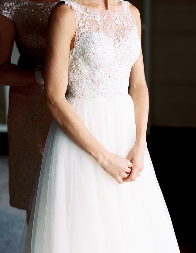 Illusion neckline wedding dress Atlanta
