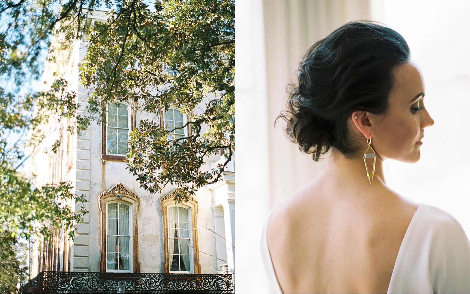 Downtown Savannah wedding elopement photographer