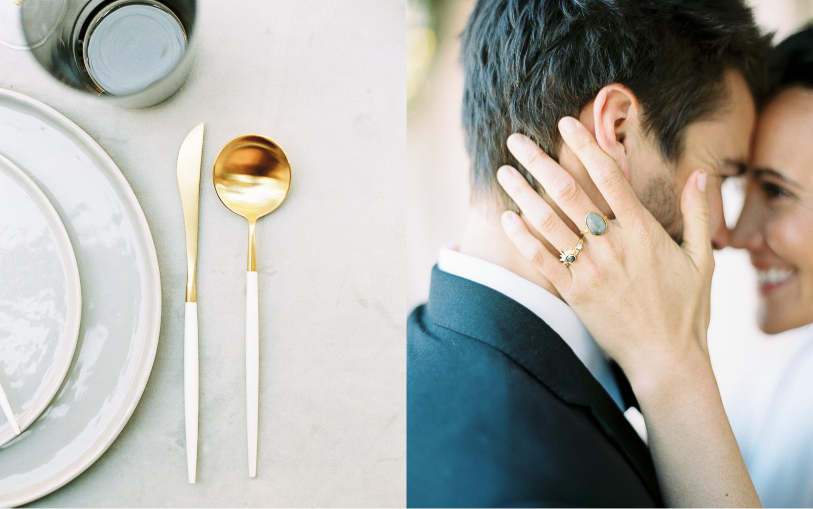 Modern minimal wedding fall