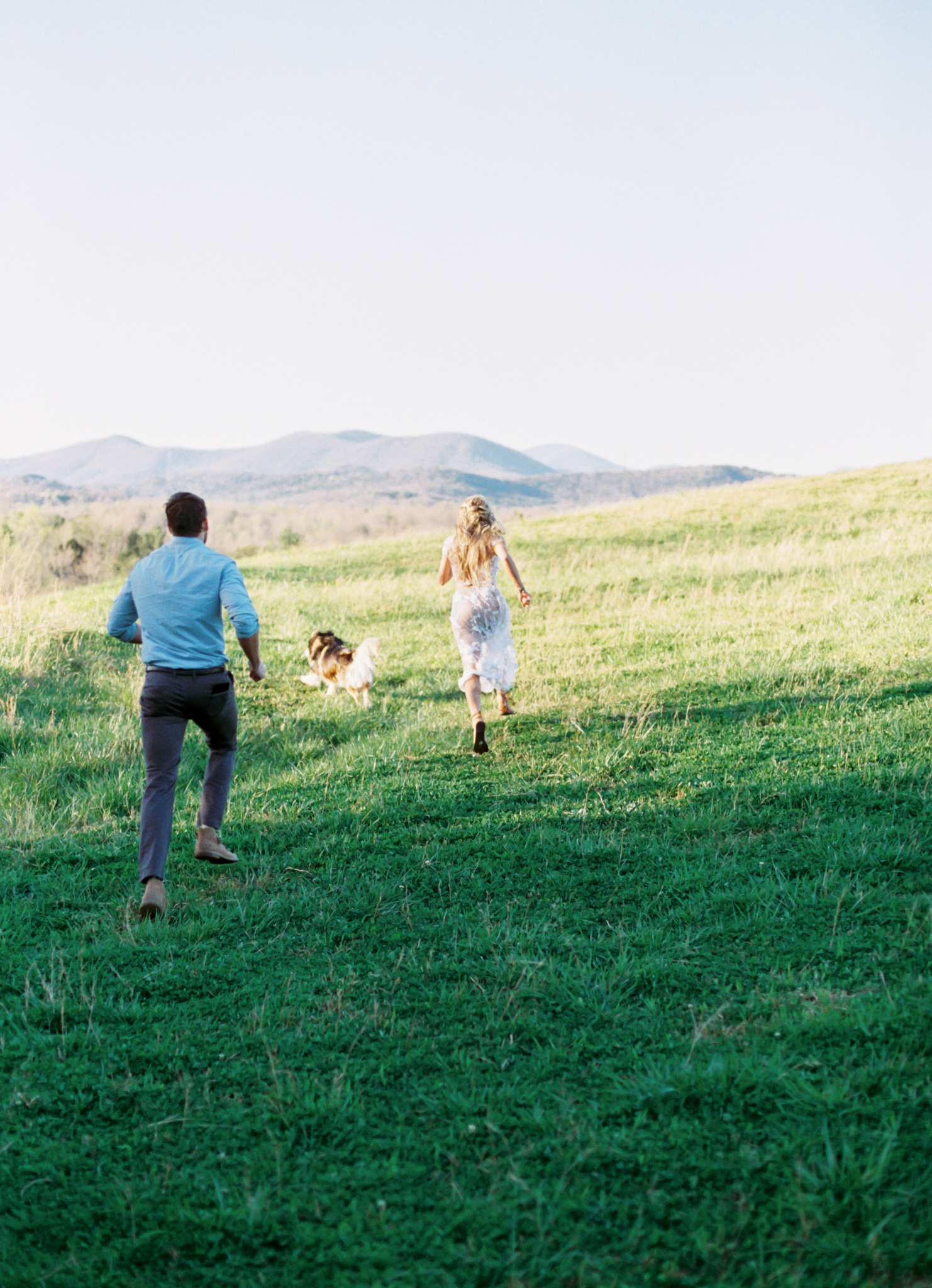 Mountain adventure engagement session North Carolina