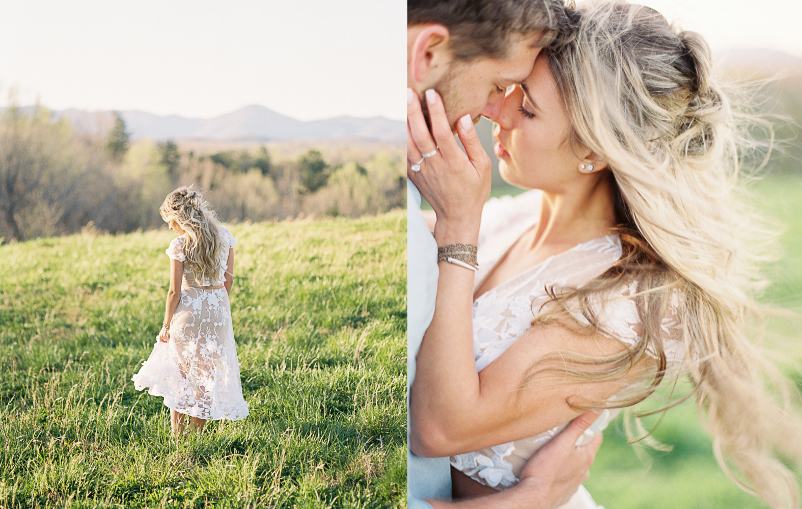 Mountain engagement session North Carolina