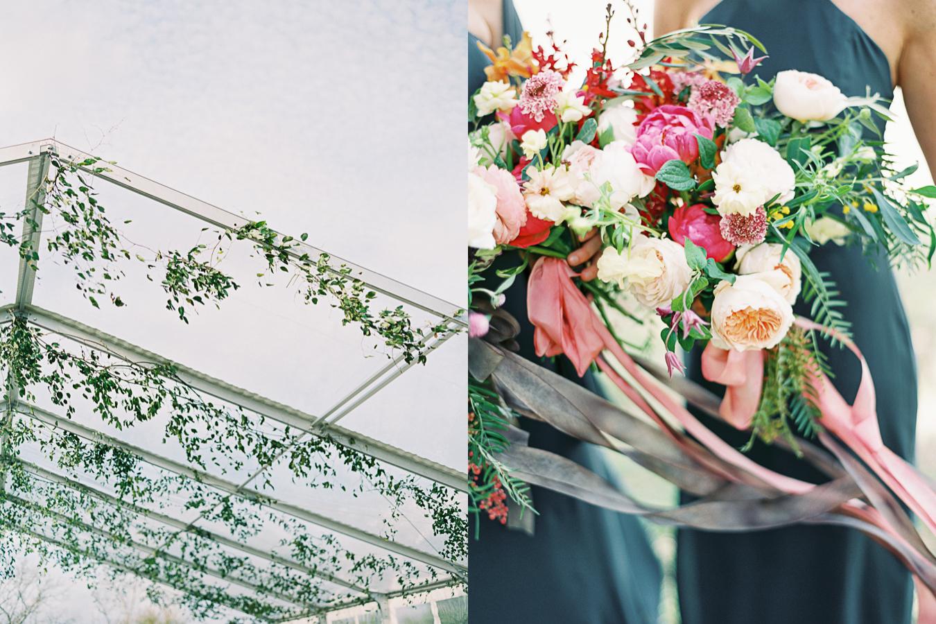 Bright color wedding flowers peony rose