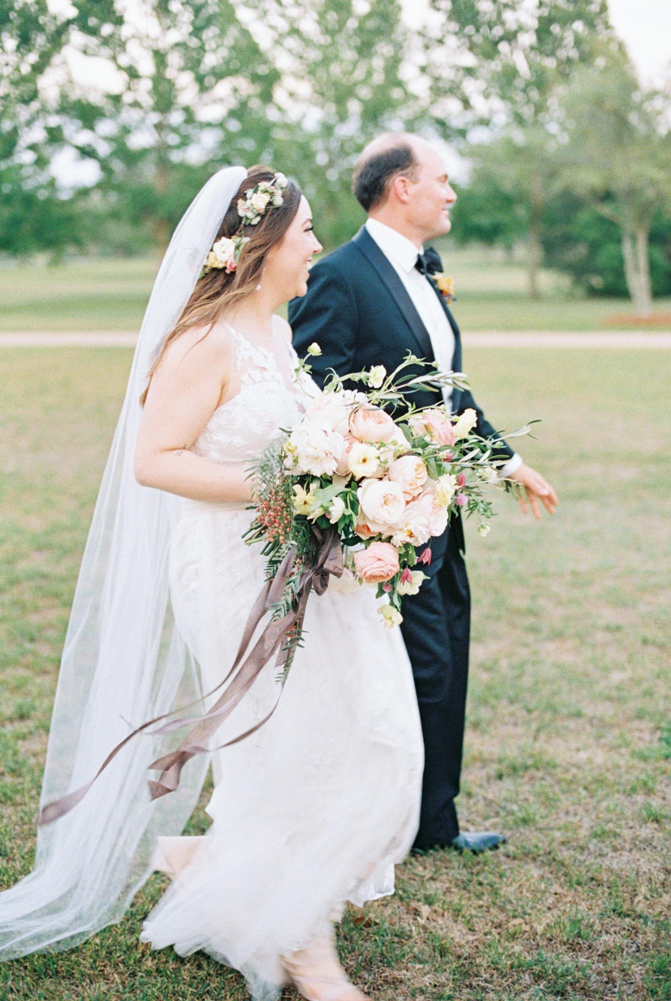 Large wedding bouquet roses