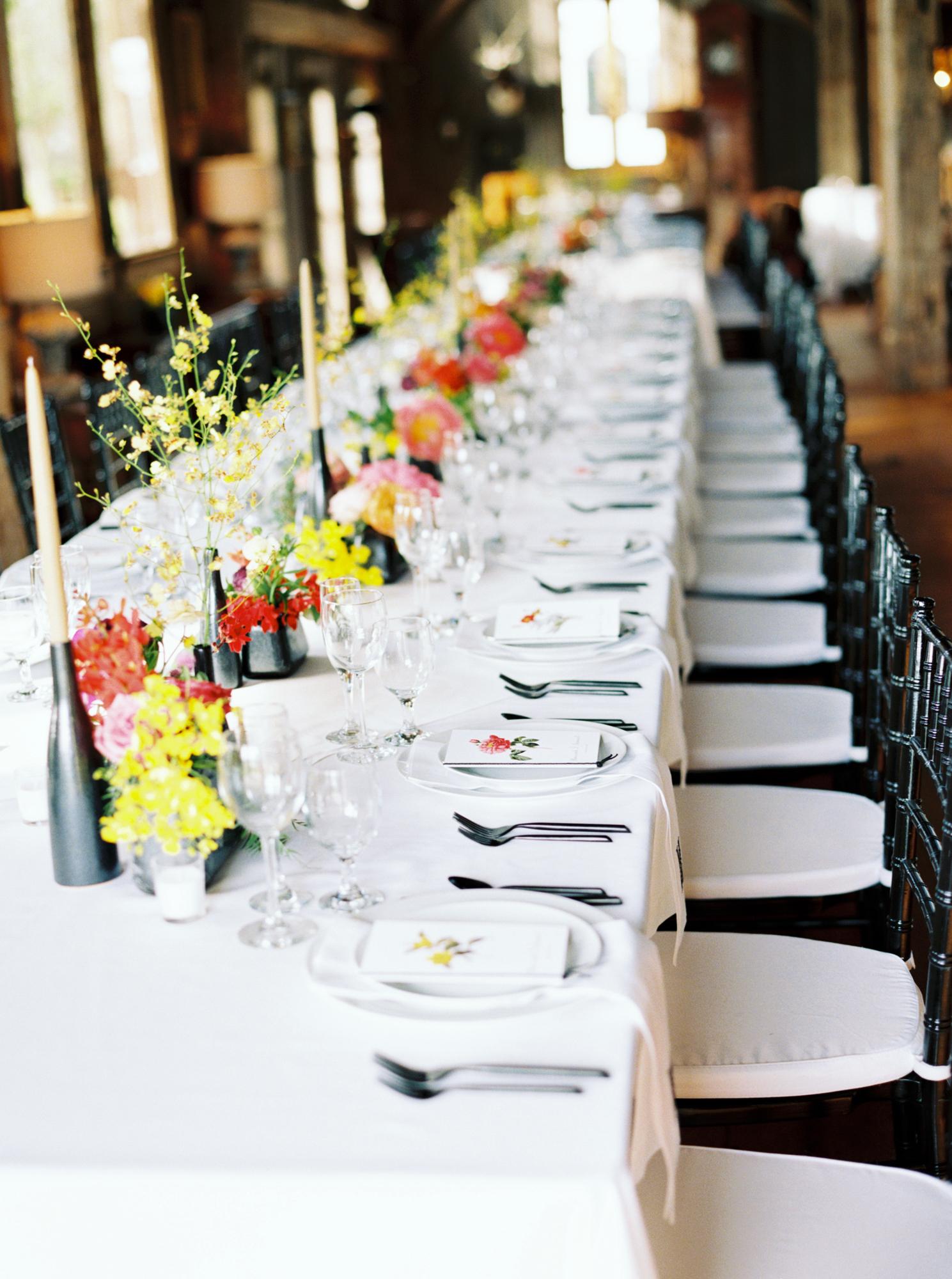 elegant colorful wedding reception
