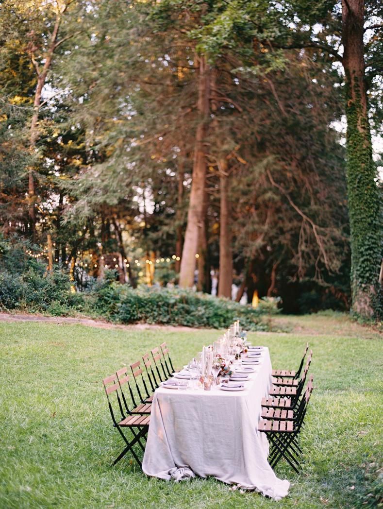 Intimate wedding dinner Amy Osaba