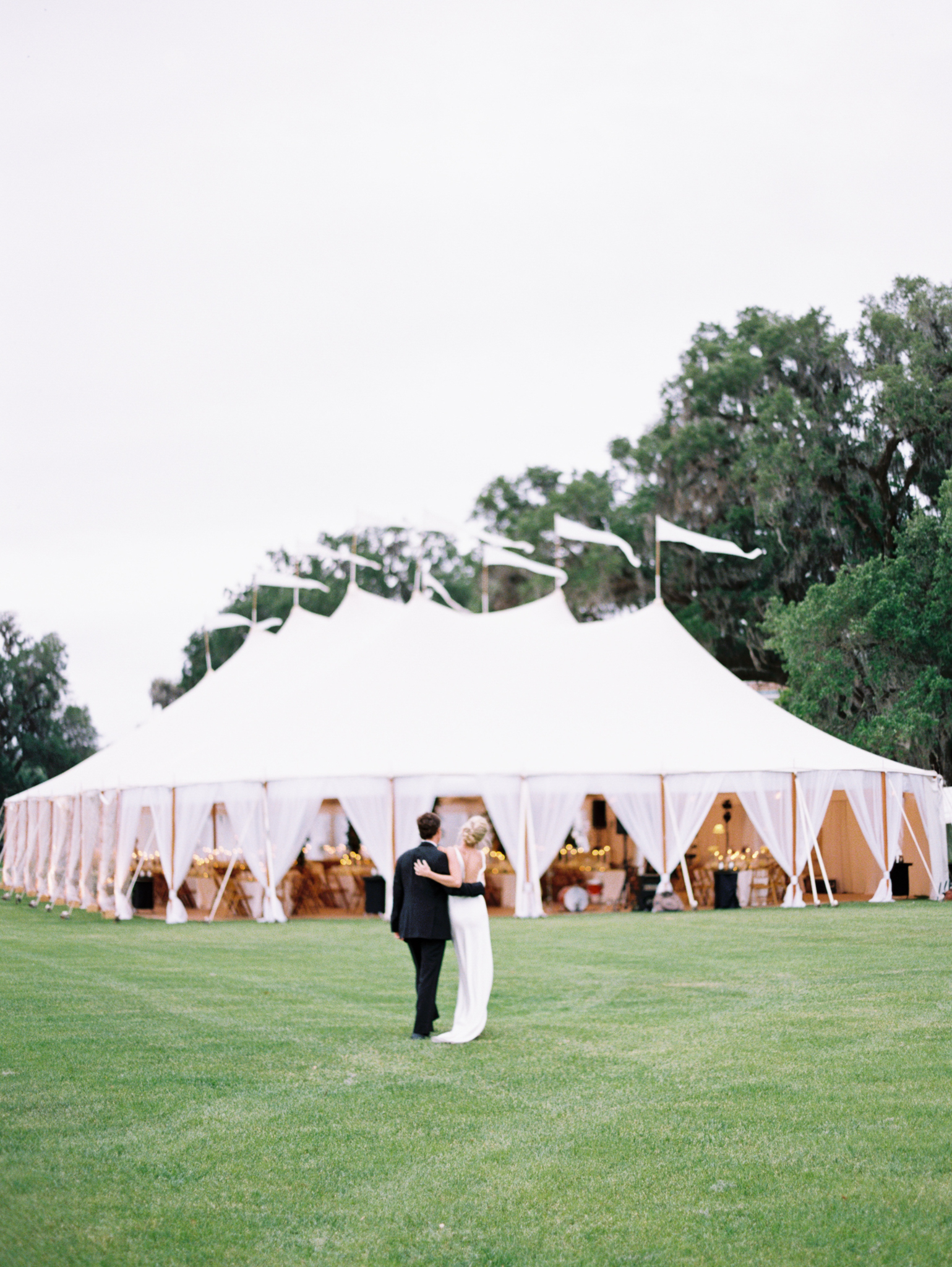 Wedding tent white sperry