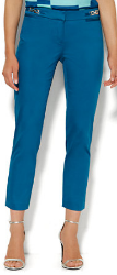 So, we re fascinated with slim fitted ankle pants, in particular the Chino, and 7th avenue versions from retailer New York and Company ( ........True story) These are an easy go-to option for the office, day time look, or a night out. Imagine these paired with an orange shark-bite top, or a crisp chiffon blouse in a neutral tone. ( Take your pick, there are just so many........)