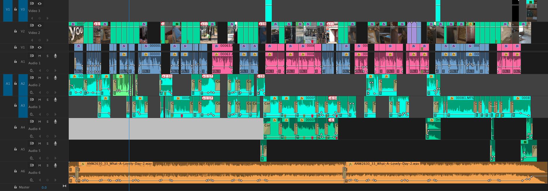 Final Timeline in Adobe Premiere