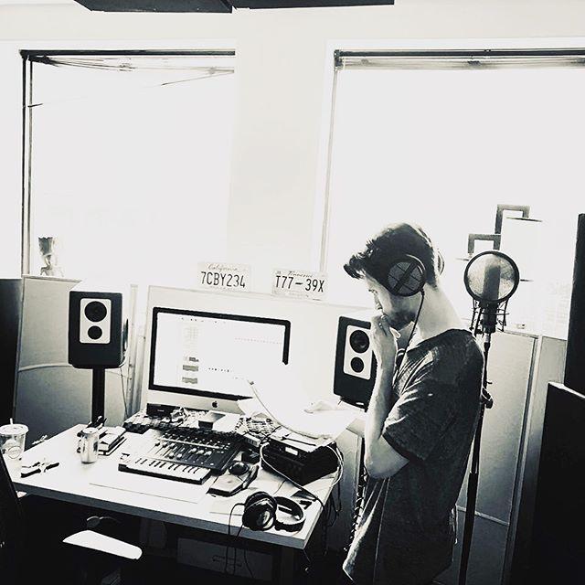 In the studio today cookin' w/ @kyledreaden ☺️