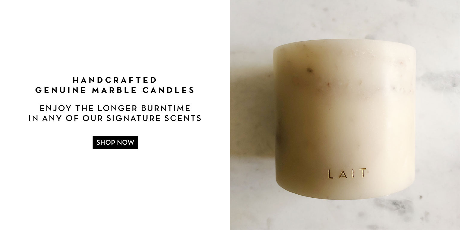 LAIT Deluxe Genuine Marble Candle