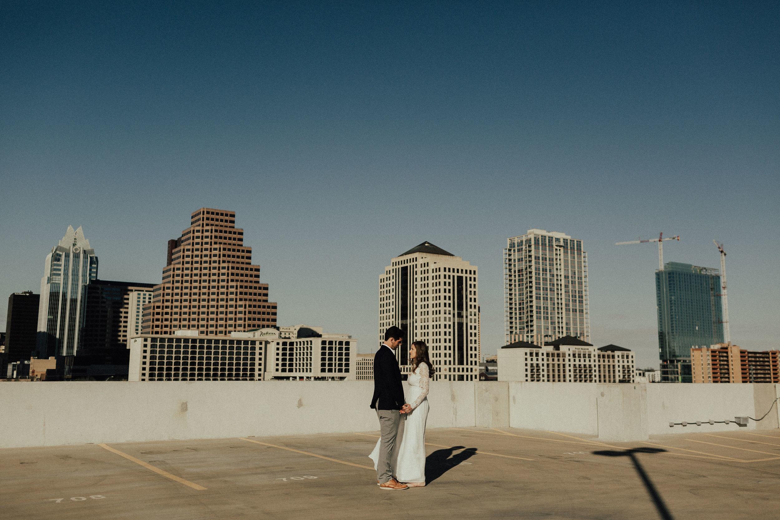 Morgan + Christian | Engagements | Austin, TX skyline & Emma Long Metropolitan Park-1